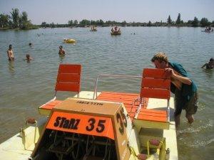 Paddle-boating Bratislava-style.