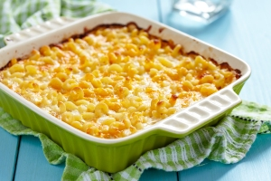This is pretty much exactly what my macaroni and cheese looks like, except mine is a microwave dinner and an extremely unnatural shade of orange.