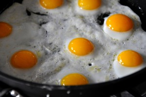 Stock picture of fried eggs. Almost definitely not as good as the ones I ate this morning.