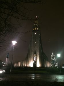 We passed this Reykjavik landmark, the Hallgrímskirkja, in our initial wanderings, We can see it from our Airbnb accommodations.