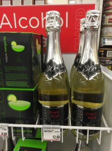 """Virgin brut,"" straight from the end of the tuna aisle of our local Shopper's Drug Mart."